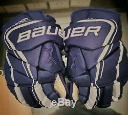 Bauer Vapor 1x Lite Gants Pro Hockey Sur Glace Marine 14 Haut