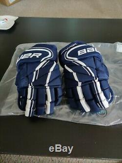 Bauer Vapor 1x Lite Gants Pro Hockey Sur Glace Marine / Blanc Senior Taille 14