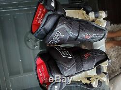Bauer Vapor 1x Lite Gants Pro Hockey Sur Glace Noir 14 Haut