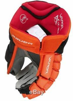 Bauer Vapor 1x Lite Gants Pro Hockey Sur Glace Noir / Orange / White Senior Taille 14