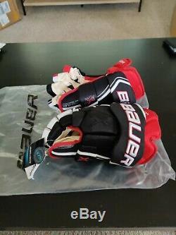Bauer Vapor 1x Lite Gants Pro Hockey Sur Glace Noir / Rouge / Blanc Principal Taille 14 Vente