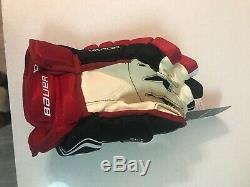 Bauer Vapor 1x Lite Gants Pro Hockey Sur Glace Noir / Rouge / Blanc Senior Taille 14