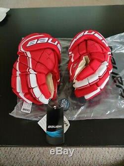 Bauer Vapor 1x Lite Gants Pro Hockey Sur Glace Red / White Senior Taille 13