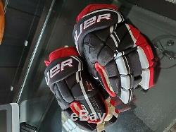 Bauer Vapor 1x Lite Gants Pro Hockey Sur Glace Rouge Noir Blanc 14 Haut