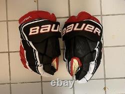 Bauer Vapor 1x Lite Pro Gants De Hockey Sur Glace Noir/rouge/blanc Taille Senior 14