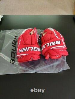 Bauer Vapor 1x Lite Pro Gants De Hockey Sur Glace Rouge/blanc Taille Senior 13