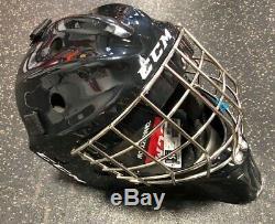 CCM Gardien De But Masque 1.5 Principal Blanc / Noir Hockey Sur Glace Bar Droite
