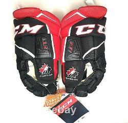 CCM Jetspeed Ft1 Senior Canada Team Black/red Ice Hockey Gloves 14 Taille