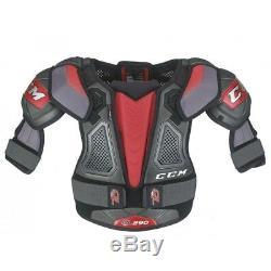 CCM Quicklite Qlt 290 Senior Hockey Sur Glace Protège-épaules, Protecteur D'épaule À Roues Alignées