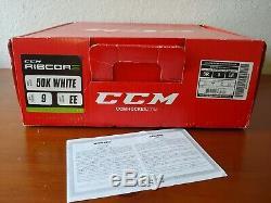 CCM Ribcor 50k Pompe Blanche Le Patins À Glace Hockey. Limited Edition Principal 9 Ee Nouveau