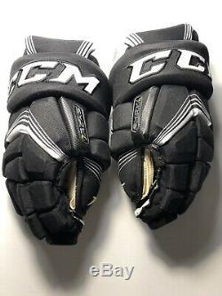 CCM Super Tacks Gants De Hockey Sur Glace De Taille Principale 13, Noir / Blanc, Nouveau Pdsf 199 $