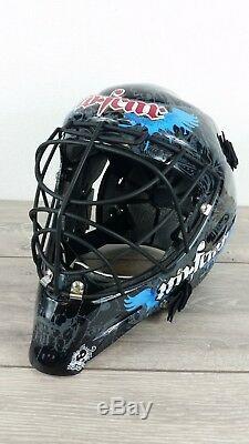 Casque De Hockey Sur Glace Senior Sénior No Ha Fear Avec Cage Noire / Grise A513