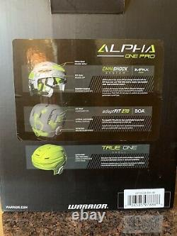 Casque De Hockey Sur Glace Warrior Alpha One Pro- Brand New Withtags In Box Size Senior Med