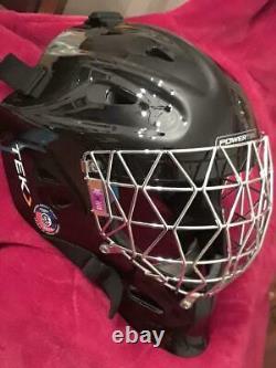 Casque De Masque De Gardien De But Powertek Ringette Hockey Sur Glace Senior Medium Nouveau T.n.-o.