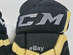 Gants De Hockey Senior De Glace CCM Pro Stock Sr 15 Pittsburgh Penguins Nouveau