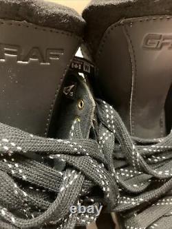 Graf Dm1080 Gardien De But De Hockey Sur Glace Patins Sr Senior Taille 7.5 E Wide Nouveau All Black