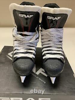 Graf Peak Speed Pk4400 Patins De Hockey Sur Glace Sr Senior 10.5 W Wide Nouveau