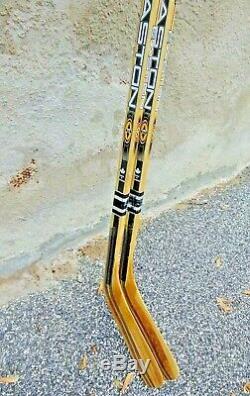 Lot De 2 Nouveau Easton Pro Stock Firbe Mike Modano Hockey Sur Glace Sticks Gaucher Lh