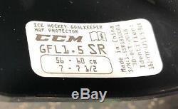 Masque De Gardien De But CCM 1.5 Barre Droite Blanche / Noire De Hockey Sur Glace