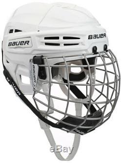 New Bauer Ims 5.0 Combo Hockey Sur Glace Principal Casque Avec Cage Rrp £ 90
