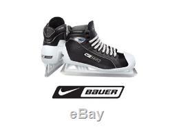 New Bauer One55 Hockey Sur Glace Gardien De But Taille 11.5d Senior Noir / Hommes Blancs Sr