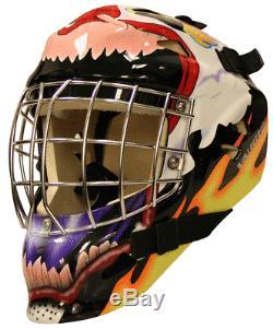 New Vaughn 7500 Sr Goal Hockey Sur Glace Gardien Visage Casque Masque De Clown Haut Petit