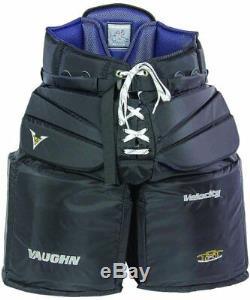 New Vaughn V6 2000 Sr. XXL Gardien De But Pantalon Haute Vitesse Noir Objectif De Hockey Sur Glace