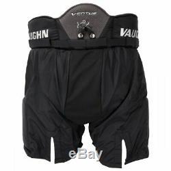 New Vaughn Ventus Slr Pantalon De Gardien Pro Haut Petit 30 But De Hockey Sur Glace Sr Noir