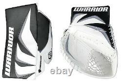New Warrior Fortress Pro Sr Gardien De But Bloqueur / Attrapeur Gant De Hockey Sur Glace Noir / Argent
