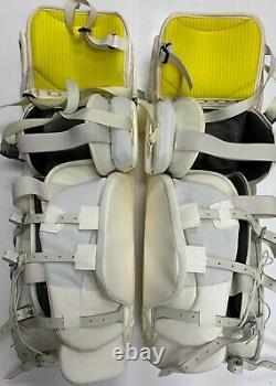 New Warrior Messiah Pro Gardien De But Pads Blanc / Noir 34 +1 But Senior Hockey Sur Glace