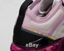 Nike Air Vapormax 2019 Gs Photon Poussière Noire Iced Lilas Les Enfants Plus Âgés Espadrille