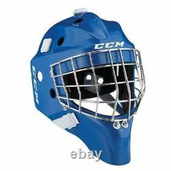 Nouveau CCM 1.9 Masque Du Gardien Senior De Hockey Sur Glace Petit Casque Royal Blue Carbon Sr