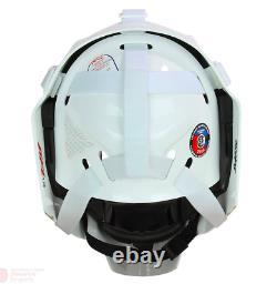 Nouveau CCM 1.9 Senior Ice Hockey Goalie Face Mask Grande Barre Droite Casque Blanc