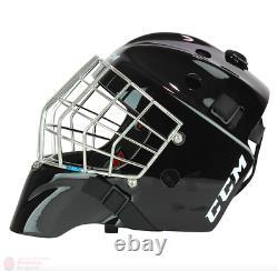Nouveau CCM 1.9 Senior Ice Hockey Goalie Face Mask Grande Barre Droite Casque Noir