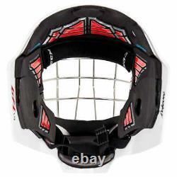 Nouveau CCM 1.9 Senior Ice Hockey Goalie Face Mask Petit Casque Blanc Barre Droite