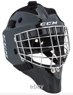 Nouveau CCM 1.9 Senior Ice Hockey Goalie Face Mask Petit Casque Noir Barre Droite