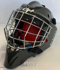 Nouveau CCM 1.9 Senior Ice Hockey Goalie Face Mask Small Black Carbon Helmet Sr