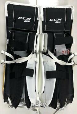 Nouveau CCM Extreme Flex E3.9 Jambières De Gardien De But Principal 35 + 2 Sr Hockey Sur Glace En Or Jaune