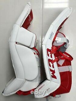 Nouveau CCM Extreme Flex E3.9 Pads Haut De La Jambe De Gardien De But 33 + 2 Sr Hockey Sur Glace Poids / Bleu / Rouge