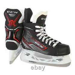 Nouveau CCM Jetspeed Ft350 Ice Hockey Skates Senior Size 8 Noir/rouge/blanc