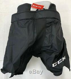 Nouveau CCM Pantalon De Gardien De But Pro Stock De Hockey Sur Glace Noire Hpg14a Fit 3 XL 36 38 Haut Sr