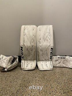 Nouveau CCM Premier Pro Senior Hockey Goalie Leg Pads 33+1