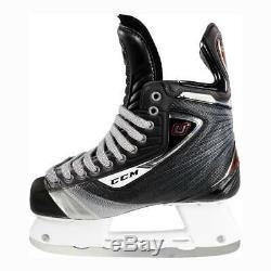 Nouveau CCM U + 10 Hockey Sur Glace Skates Taille Principale 6,5 Largeur Ee Large Hommes Patin Noir / Rouge