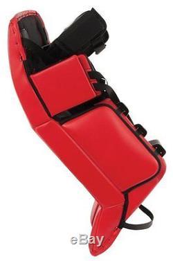 Nouveau Gardien De Hockey Sur Glace Vaughn Vision 9500 Pro Sr 35 + 1 Jambières Senior Rouge Argent