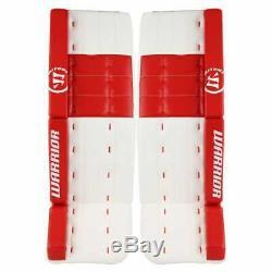 Nouveau Guerrier Rituel G2 Pro Jambières De Gardien De But De Hockey Sur Glace 34 + 1,5 Sr Blanc / Rouge Haut