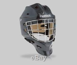 Nouveau Masque De Gardien De But Reebok 9k Pro Senior Senior Noir Objectif Rbk Hockey Sur Glace