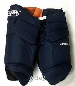 Nouveau Pantalon De Gardien De But De Hockey Sur Glace CCM Gatekeeper Pro Stock Bleu Marine Senior XL 36 38 Large