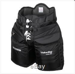 Nouveau Pantalon De Gardien De But Vaughn V6 2200 Pro Sr. Senior Senior Hockey Sur Glace Velocity Noir