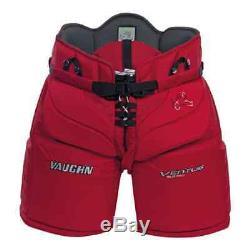 Nouveau Pantalon De Gardien De But Vaughn Ventus Slr Pro Sr Senior Pantalon De But Pour Hockey Sur Glace Rouge XL 42