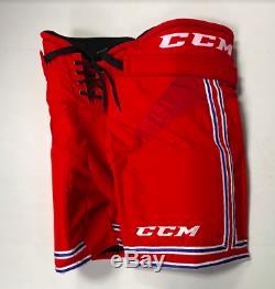 Nouveau Pantalon De Hockey Sur Glace CCM Hp30ch Des Moines Pro Stock Ushl Senior Grand Rouge / Bleu